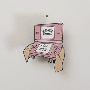 🐢2/$15 Nintendo Pink DS Game Over Pin